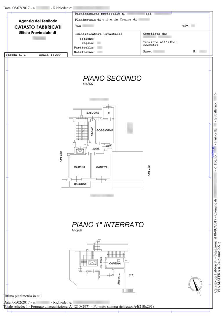 Richiesta planimetrie catastali planimetria catastale e for Come disegnare le planimetrie online